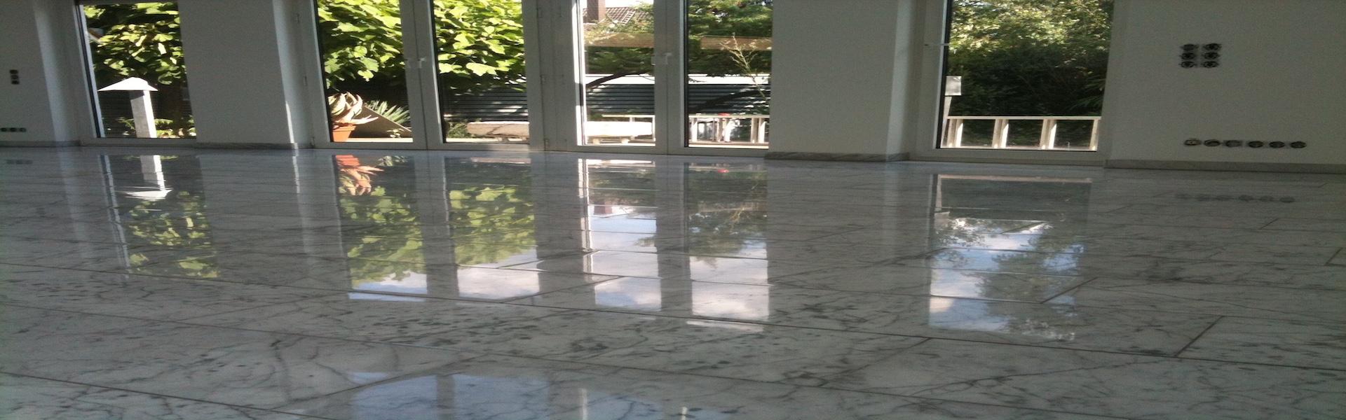 Alten Marmor reinigen und polieren